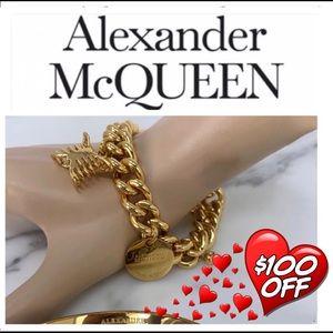 Authentic Alexander McQueen chain charm bracelet